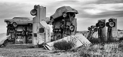 Photograph - Carhenge Nebraska 20 by Bob Christopher