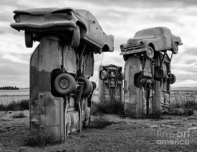 Photograph - Carhenge Nebraska 21 by Bob Christopher
