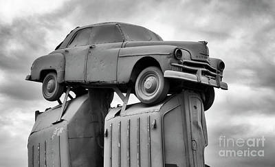 Photograph - Carhenge Nebraska 25 by Bob Christopher