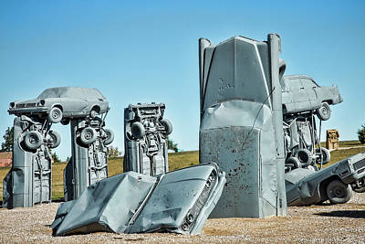 Photograph - Carhenge Pillars by Steven Bateson