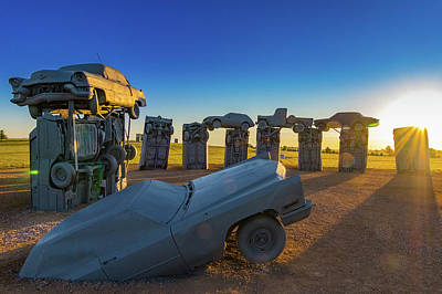 Carhenge Sunrise Art Print by David Brown Eyes