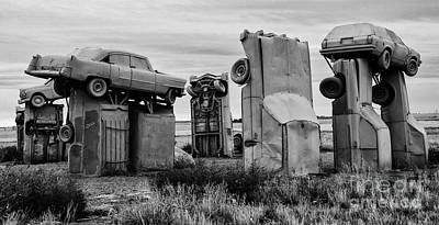 Photograph - Carhenge Nebraska 11 by Bob Christopher