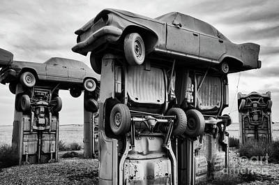 Photograph - Carhenge Nebraska 12 by Bob Christopher
