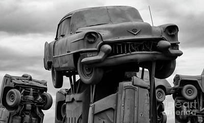 Photograph - Carhenge Nebraska 15 by Bob Christopher