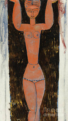 Painting - Cariatide, 1913  by Amedeo Modigliani