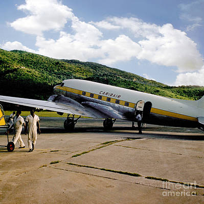 Fixed Wing Multi Engine Photograph - Caribair Dc-3 by Wernher Krutein