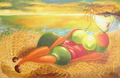 Painting - Caribbean Afrodite by David G Wilson