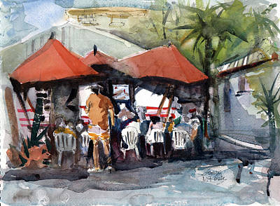 Painting - Caribbean Bar-theatre Barbados Style by Gaston McKenzie