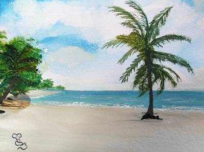 Painting - Caribbean Beach by Carole Robins