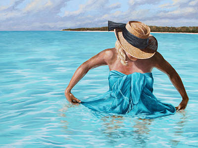 Painting - Caribbean Blue by Jose Rodriguez