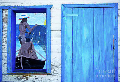 Caribbean Blues Art Print by Bob Christopher