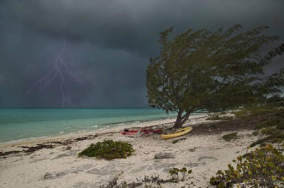 Lightning Photograph - Caribbean Bolt by Betsy Knapp