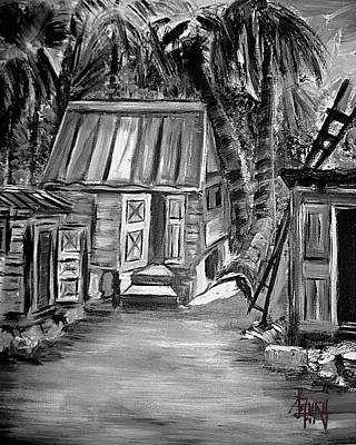 Caribbean Country House Print by Laura Fatta