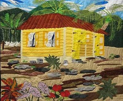 Tapestry - Textile - Caribbean Country by Pauline Barrett