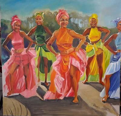 Painting - Caribbean Dancers by Kaytee Esser