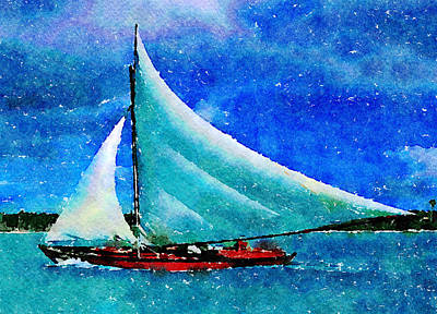 Painting - Caribbean Dream by Angela Treat Lyon