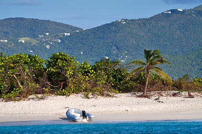 Inflatable Boats Photograph - Caribbean Island by Louise Heusinkveld