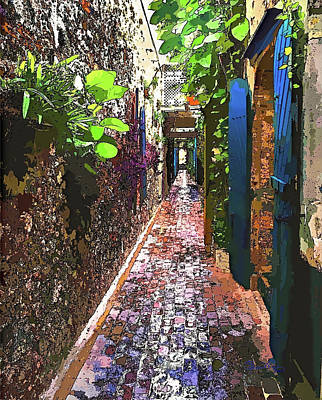Photograph - Caribbean Island Secret Alley by Susan Molnar