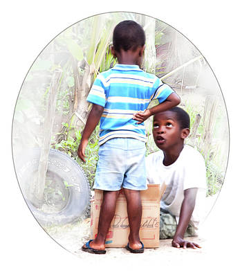 Photograph - Caribbean Kids Illustration by Tatiana Travelways