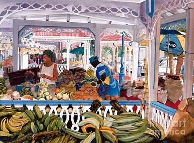Painting - Caribbean Market by Douglas Teller