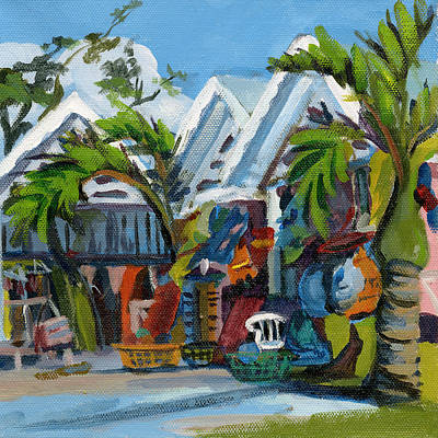 Painting - Caribbean Outdoor Market by J R Baldini