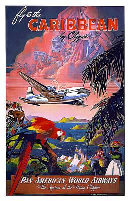 Airways Mixed Media - Caribbean Pan American Airways by David Wagner