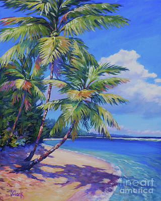 Island Wall Art - Painting - Caribbean Paradise by John Clark