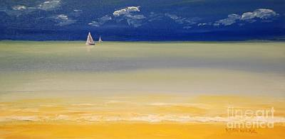 Painting - Caribbean Sail by Keith Wilkie