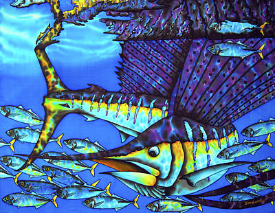 Painting - Caribbean Sailfish by Daniel Jean-Baptiste