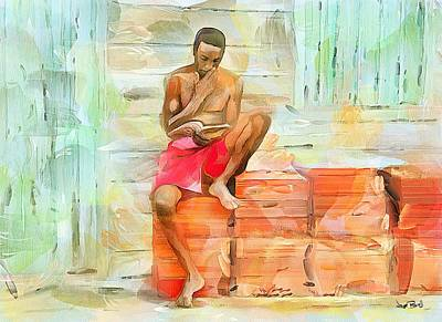 Painting - Caribbean Scenes - Diamond In The Rough by Wayne Pascall