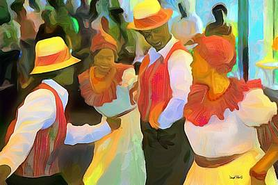 Painting - Caribbean Scenes - Folk Dance by Wayne Pascall
