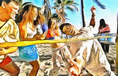 Limbo Painting - Caribbean Scenes - Limbo by Wayne Pascall
