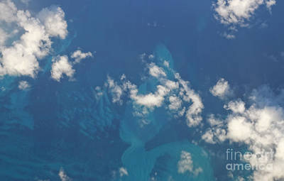Photograph - Caribbean Sea Aerial View by Charline Xia