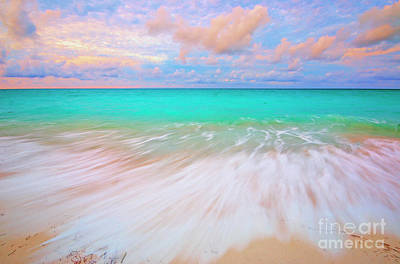 Caribbean Sea At High Tide Art Print