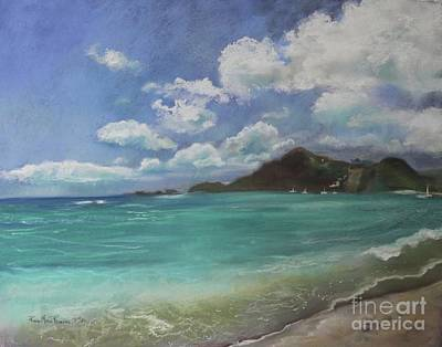 Pastel - Caribbean Sea Day Antigua by Robin Maria Pedrero