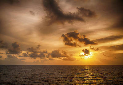 Photograph - Caribbean Sunrise by Mick Burkey