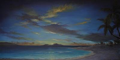 Painting - Caribbean Sunset By Alan Zawacki by Alan Zawacki
