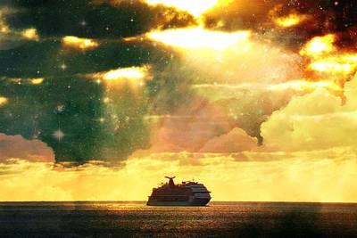 Photograph - Caribbean Sunset Cloud Art by John T Potts