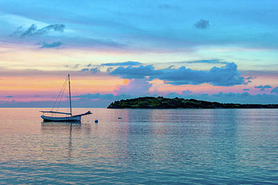 Photograph - Caribbean Sunset by Greg Wyatt