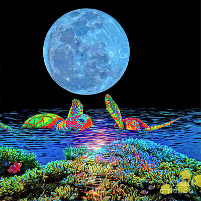 Painting - Caribbean Tropical Night by Sandra Selle Rodriguez