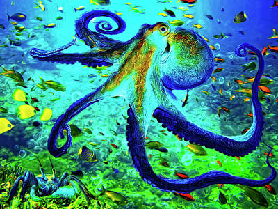 Painting - Caribbean Tropical Reef by Sandra Selle Rodriguez