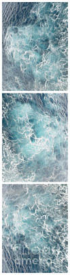 Caribbean Waters - Triptych Image Vertical Art Print