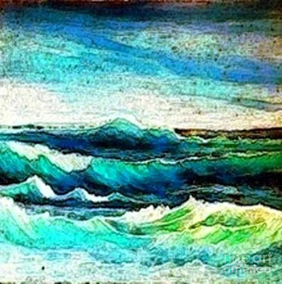 Painting - Caribbean Waves by Holly Martinson