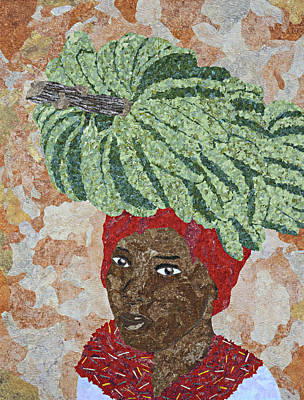 Tapestry - Textile - Caribbean Woman by Pauline Barrett