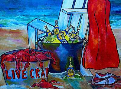 Painting - Caribe And Crab by Patti Schermerhorn