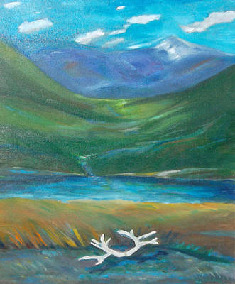 Cycles Painting - Caribou Country by Susan  Esbensen