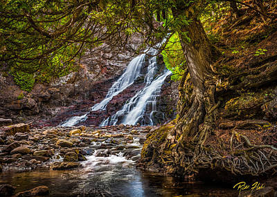 Art Print featuring the photograph Caribou Falls In Fall by Rikk Flohr