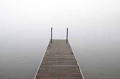 Photograph - Caribou Lake Boat Dock by Steve Stuller