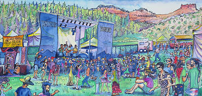 Del Rio Painting - Caribou Mountain Collective At Yarmonygrass by David Sockrider