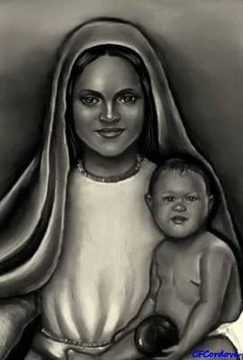 Caridad Del Cobre-lady Of Charity Art Print by Carmen Cordova
